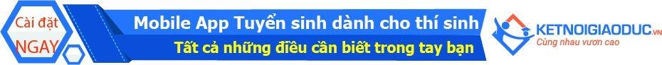 ỨNG DỤNG DI ĐỘNG TUYỂN SINH