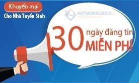 Miến phí đăng tuyển 30 ngày cho Nhà tuyển sinh