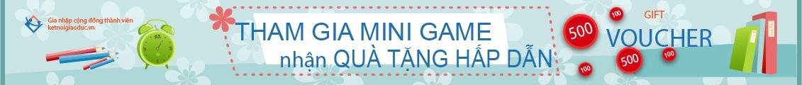 mini game chào đón thành viên mới
