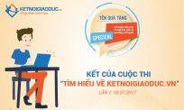 Thông báo kết quả cuộc thi tìm hiểu Ketnoigiaoduc.vn - Lần 1