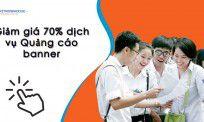 Giảm giá 70% chi phí đăng quảng cáo banner