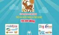 Lì xì năm mới 2021: Thí sinh cả nước được tặng Thẻ cào điện thoại và Thẻ game trị giá 100K